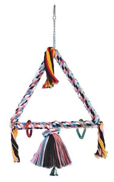 Nobby barevný velký triangl pro papoušky 3 x 45cm