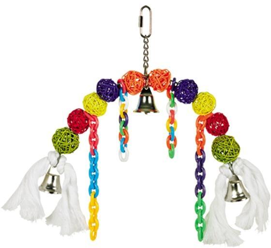 Nobby závěsná hračka pro papoušky proutěné kuličky 22x25cm