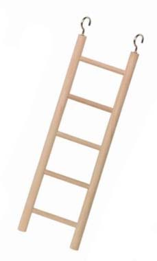 Nobby dřevěný závěsný žebřík pro papoušky 5 příček 22cm