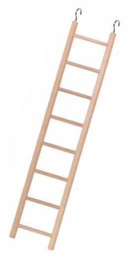 Nobby dřevěný závěsný žebřík pro papoušky 7 příček 34cm