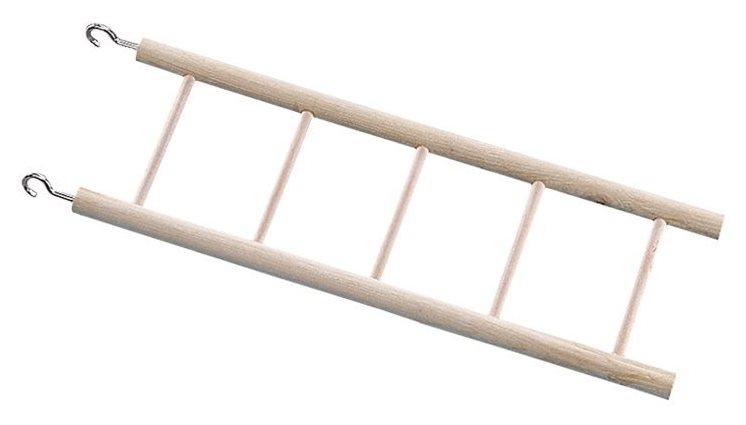 Nobby dřevěný závěsný žebřík pro velké papoušky 5 příček 45cm