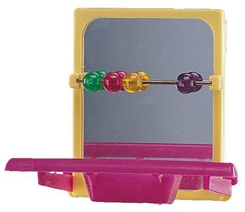 Nobby zrcátko s počítadlem pro malé papoušky 1ks