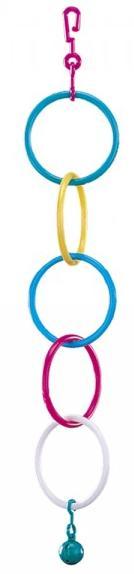 Nobby hračka pro malé papoušky plastové kruhy 1ks