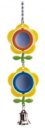Nobby hračka pro malé papoušky závěsná zrcátka se zvoneček 28cm