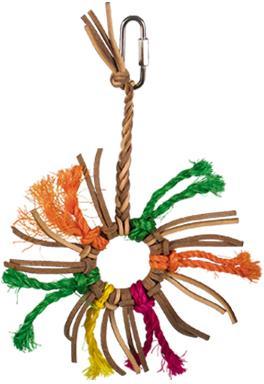 Nobby hračka ze sisalu a kůže pro papoušky 18x12cm
