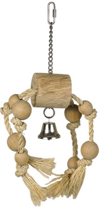 Nobby hračka ze dřeva a sisalu pro papoušky 33x15cm
