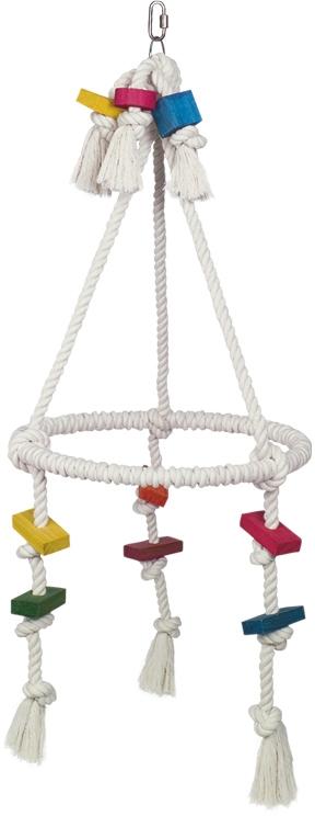 Nobby hračka pro papoušky houpací kroužek 84 x 35,5 cm