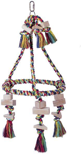 Nobby hračka pro střední papoušky pyramida 59x30cm