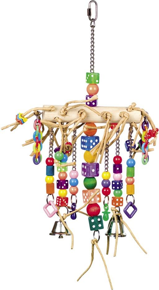 Nobby aktivní hračka pro papoušky se zvonečky 41 x 22 cm