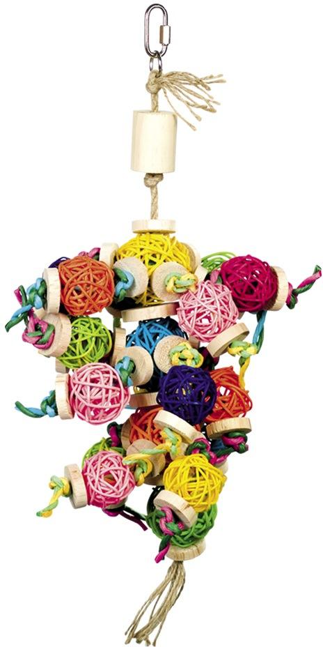 Nobby aktivní hračka pro papoušky proutěné koule 37 x 18 cm