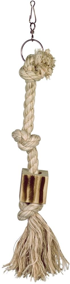 Nobby šplhací lano M bavlna, sisal 3x uzel 44 cm