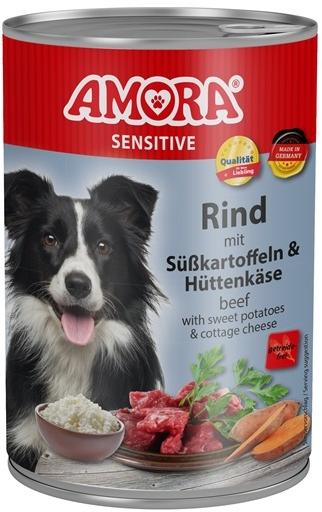 AMORA Dog Dose Sensitive hovězí s batáty 400g