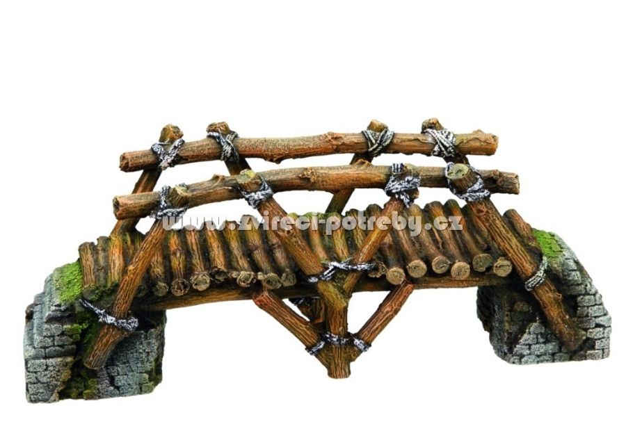 Nobby akvarijní dekorace dřevěný most 25,8 x 8 x 10 cm