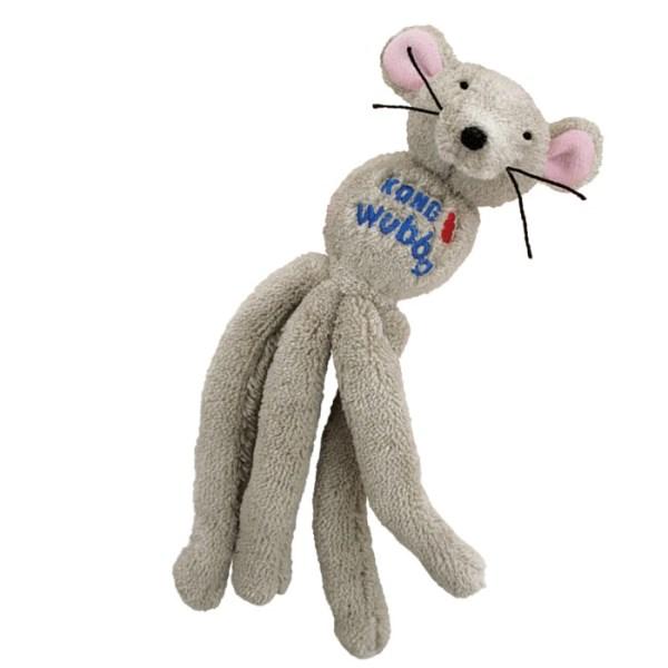Kong Cat Wubba plyšová hračka myš 20x4cm