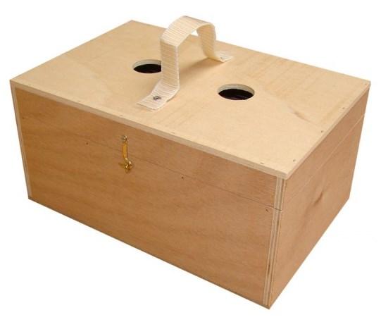 Nobby ptačí přepravní box dřevěný 30x20x14cm