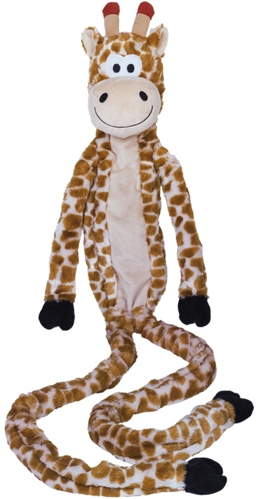 Nobby hračka plyšový žirafa pro psy 113 cm s lanem