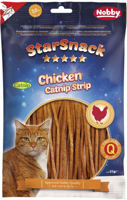 Nobby StarSnack pamlsky pro kočky catnipové proužky 85g