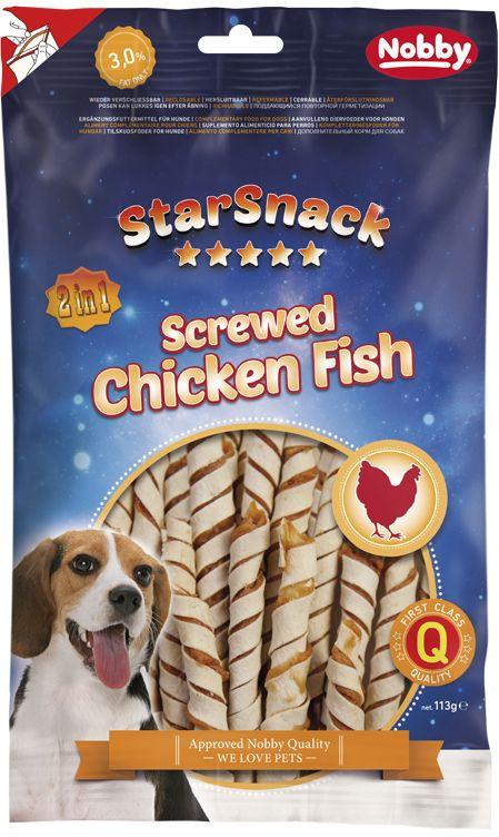 Nobby StarSnack Screwed Chicken Fish pamlsky 113g