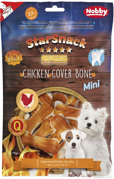 Nobby StarSnack Chicken Cover Bone pamlsky 70g