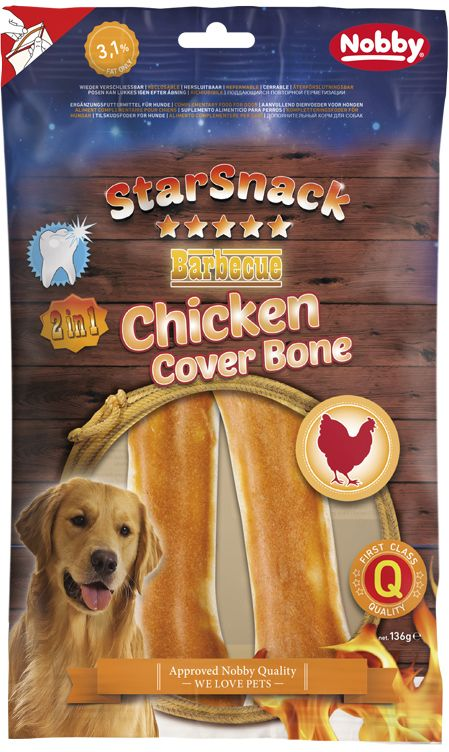 Nobby StarSnack Chicken Cover Bone pamlsky 136g