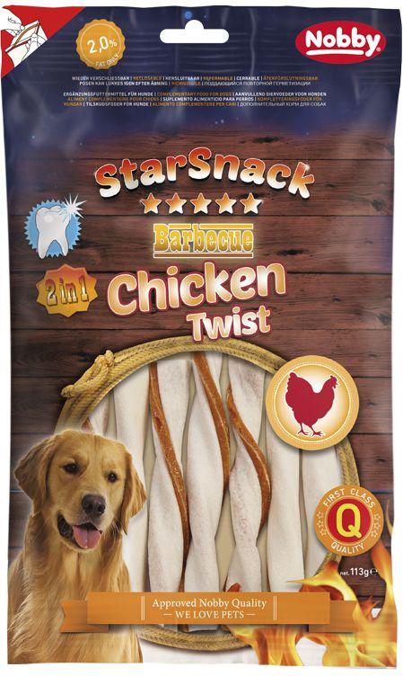 Nobby StarSnack BBQ Chicken Twist žvýkací tyčky M 12cm 113g