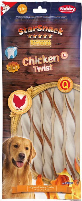 Nobby StarSnack BBQ Chicken Twist žvýkací tyčky L 25cm 150g