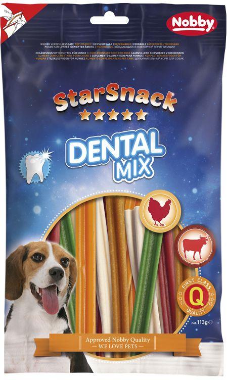 Nobby StarSnack Dental Mix dentální tyčinky 113g