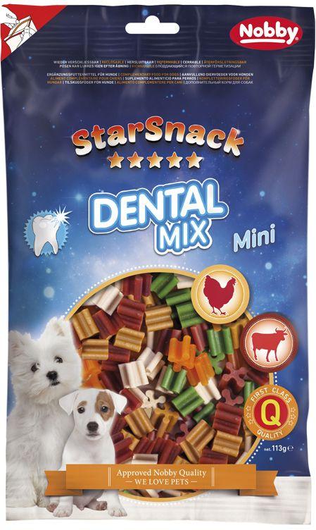 Nobby StarSnack Dental Mix dentální tyčinky mini 113g