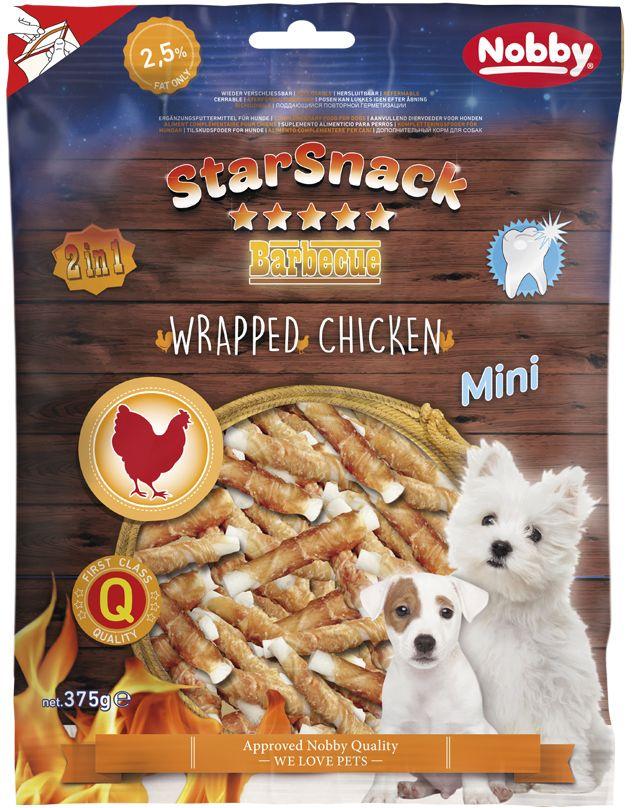 Nobby StarSnack Wrapped Mini buvolí tyčky s kuřecím 375g