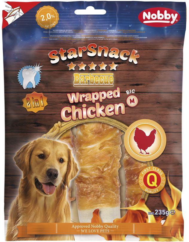 Nobby StarSnack Wrapped Chicken M pamlsky 15cm 235g