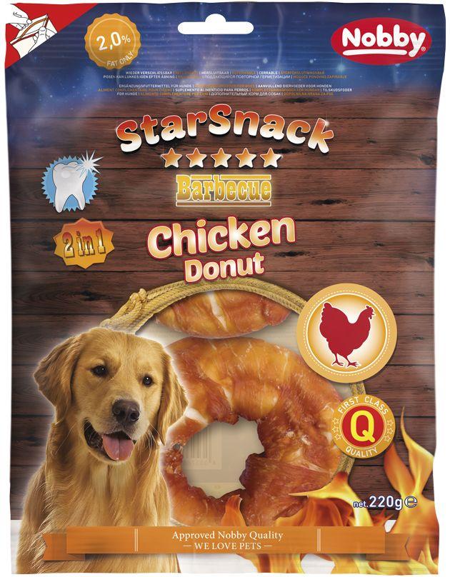Nobby StarSnack BBQ Chicken Donut pamlsky 10cm 220g
