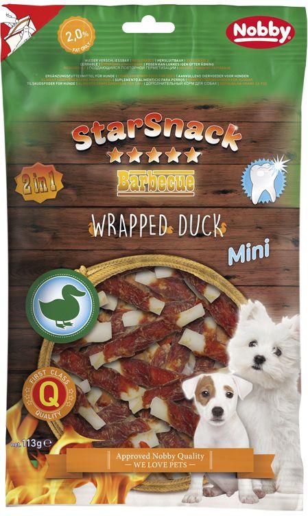 Nobby StarSnack Wrapped Duck MINI pamlsky pro psy 113g