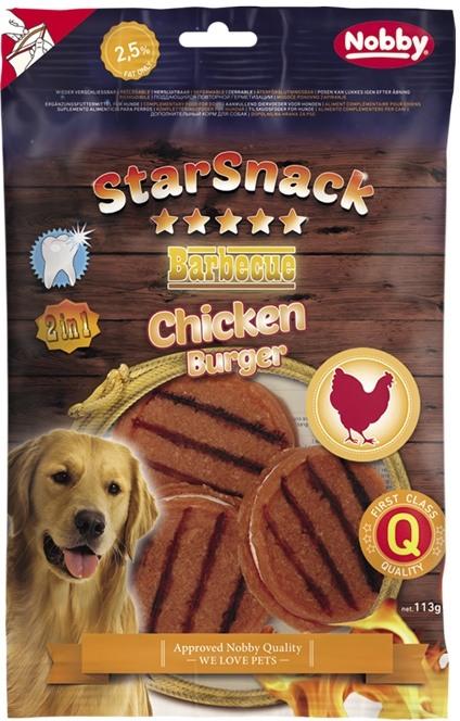 Fotografie Nobby StarSnack BBQ Chicken Burger pamlsky pro psy 113 g