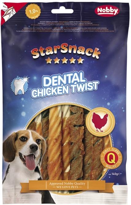 Nobby StarSnack Dental Chicken Twist dentální kuřecí spirály 12,5cm / 140g