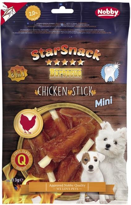 Nobby StarSnack BBQ Chicken Stick Mini kostičky s kuřecím masem 113g
