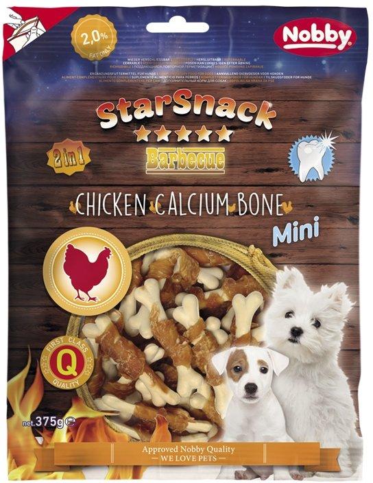 Nobby StarSnack BBQ Mini kalciová kostička s kuřetem 7cm / 375g