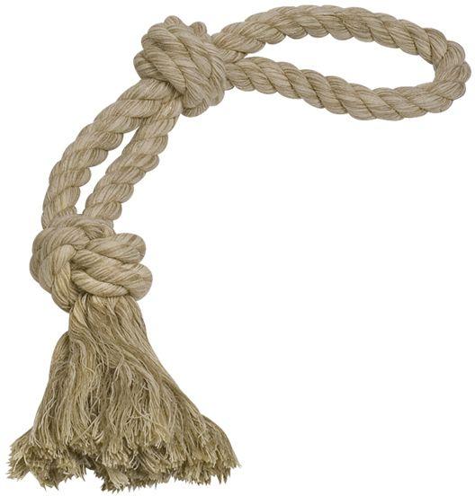 Nobby hračka pro psy lano hnědé 2x uzel 350g 55cm
