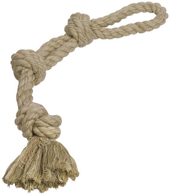 Nobby hračka pro psy lano hnědé 3x uzel 600g 60cm