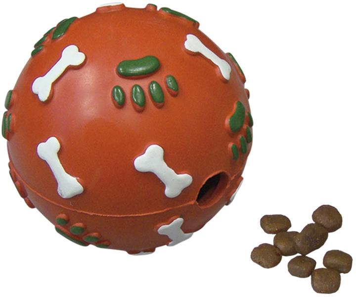 Nobby vánoční hračka plnící míček tvrdá guma 8,5 cm