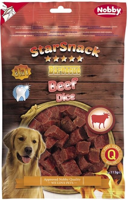 Fotografie Nobby StarSnack BBQ Beef Dice pamlsky pro psy 113 g