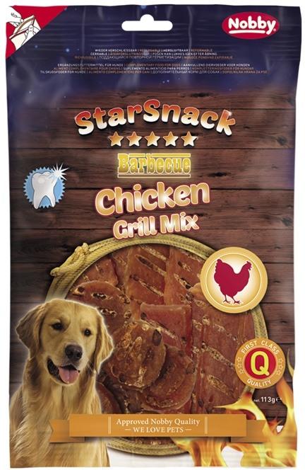 Fotografie Nobby StarSnack BBQ Chicken Grill Mix pamlsky pro psy 113 g