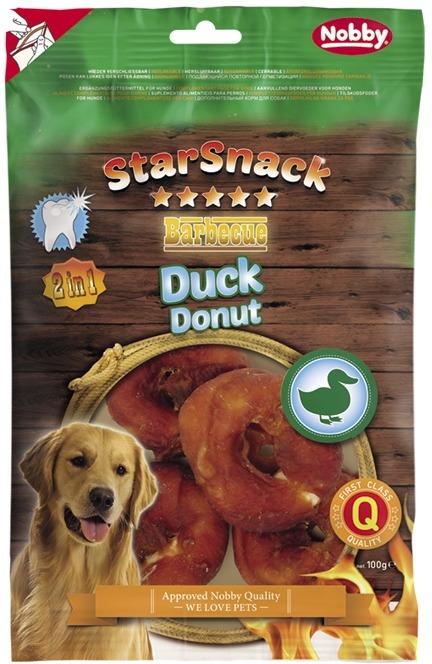 Fotografie Nobby StarSnack BBQ Duck Donut pamlsky pro psy 100 g/4 ks
