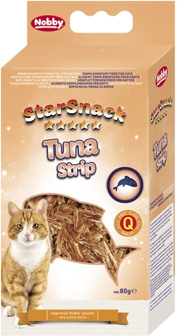 Nobby StarSnack TUNA STRIP tuňákové pamlsky 80g