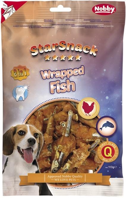 Fotografie Nobby StarSnack Wrapped Fish pamlsky pro psy 113 g