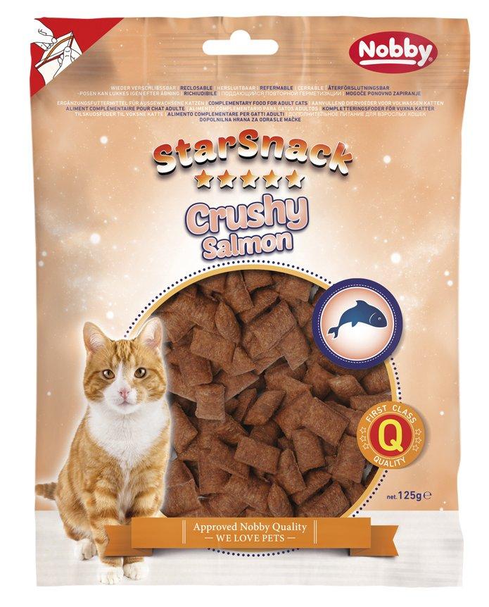 Nobby StarSnack Cat Crushy Salmon křupavé polštářky s lososem 125g