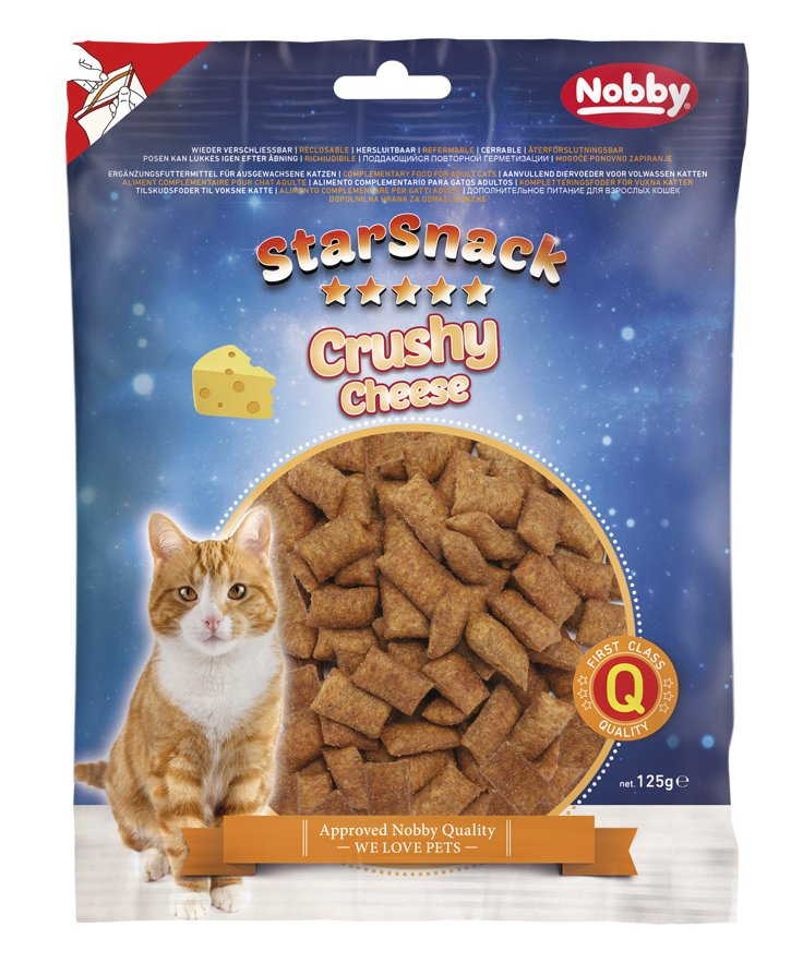 Nobby StarSnack Cat Crushy Cheese křupavé polštářky se sýrem 125g