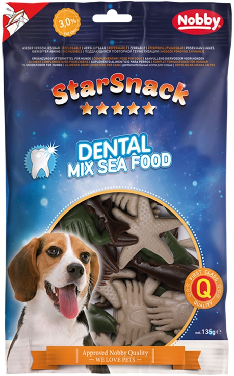 Nobby StarSnack Dental Mix Sea Food dentální pamlsky 135g