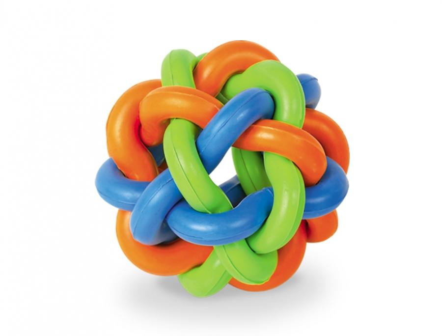 Nobby Ruber Line gumový propletený míč 9,5cm