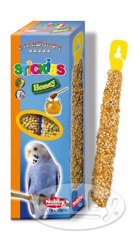 Nobby StarSnack tyčinky s medem pro exoty 2 x 30g