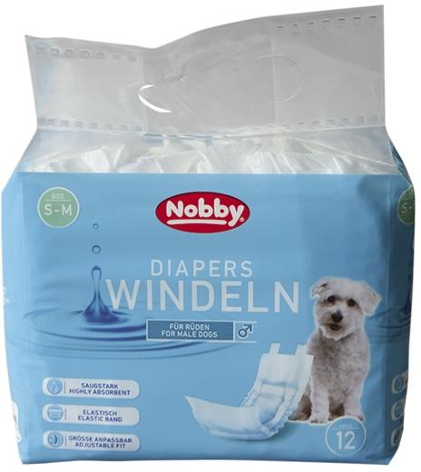 Nobby papírové pleny pro psy L-XL 60-80cm (12 ks)